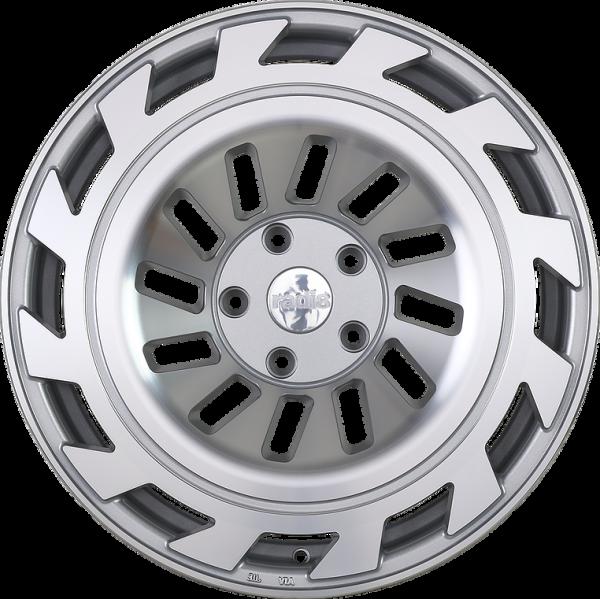Radi8 R8T12 8,5x19 ET45 5x112 Silber Frontpoliert
