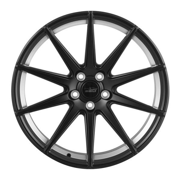 E 1 Deep Concave 10,5x20 5x120 ET25 Satin Black Undercut polish