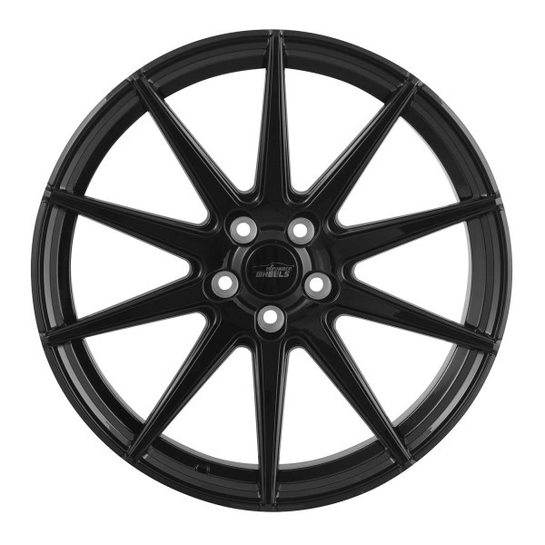 E 1 Deep Concave 10,5x20 5x120 ET25 Highgloss Black
